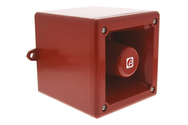 Product image for e2s A105 Red 32 Tone Electronic Sounder ,230 V ac, 112dB at 1 Metre, IP55