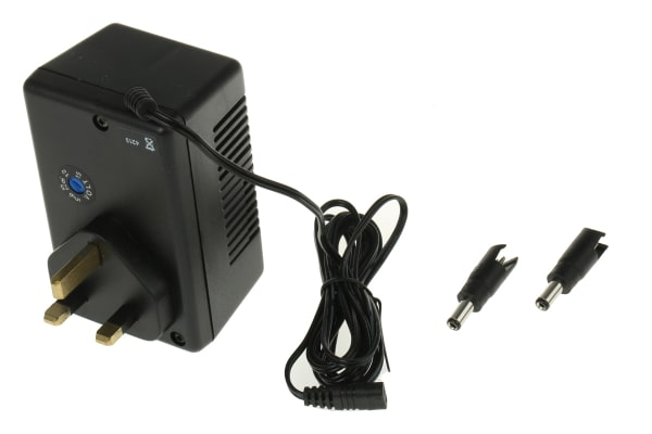 Product image for 3PIN REGULATED AC/DC ADAPTOR, 5-15V 7.5W