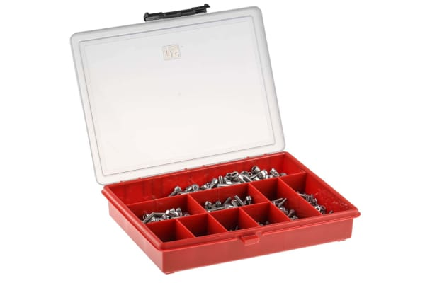 Product image for A2 s/steel cap head skt screw kit,M3-M6