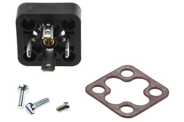 Product image for 3POLE+E BLACK PLUG BASE,250VAC