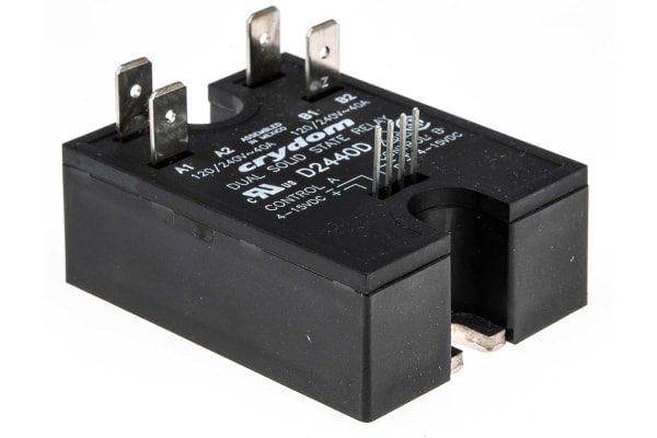Product image for 2 O/P SSR,40A RMS 24-280VAC