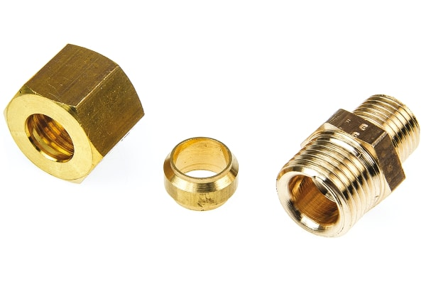 Product image for MALE STUD COUPLING,1/4IN BSPTMX10MM COMP