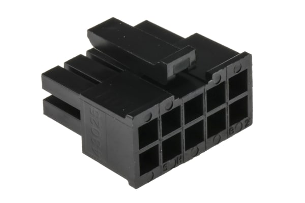 Product image for 10 way dual row receptacle,5A