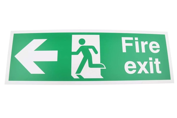 Product image for PVC FIRE EXIT, Fire Exit, English, Exit Sign