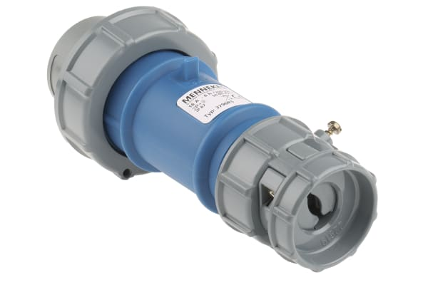 Product image for MENNEKES, PowerTOP IP67 Blue Cable Mount 3P Industrial Power Plug, Rated At 16.0A, 230.0 V