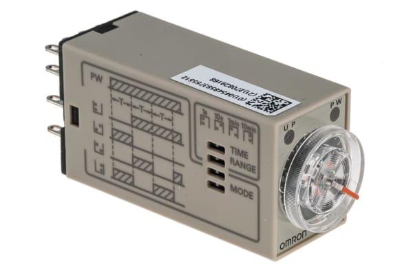 Product image for 4PDT 4 function timer,0.1sec-10min 24Vdc