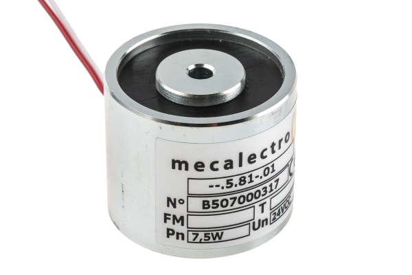 Product image for Mecalectro Holding Magnet, 440N Holding Force 24V dc