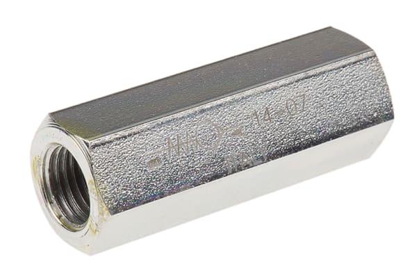 Product image for G1/4 BSP steel inline checkvalve,0.35bar