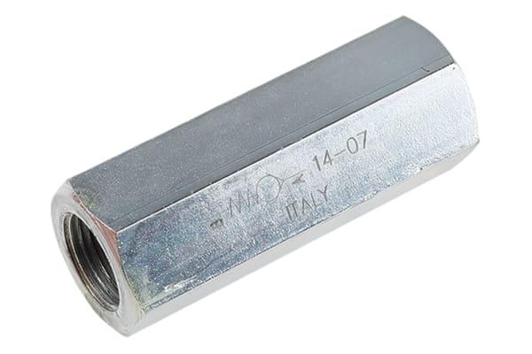 Product image for G3/8 BSP steel inline checkvalve,0.35bar