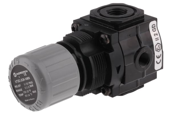 Product image for G1/4 PNEUMATIC PRESSURE RELIEF VALVE