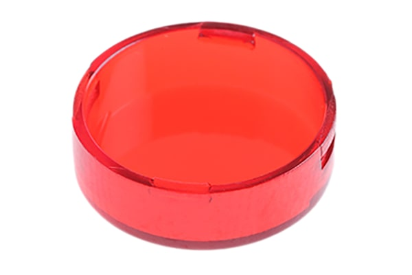 Product image for Round Red Lens for A01 Series Operator