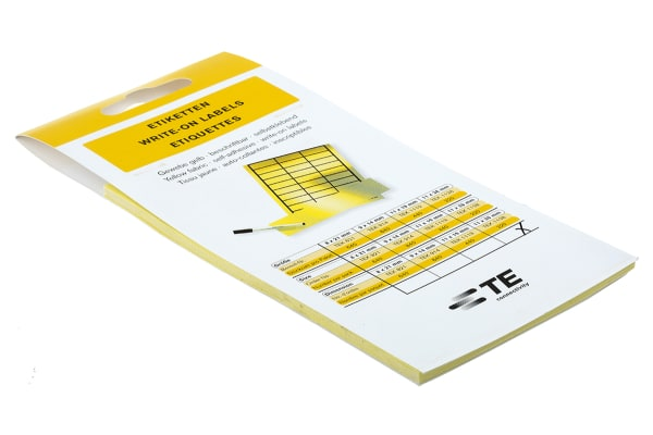 Product image for LABELS YELLOW TYPE TEK220