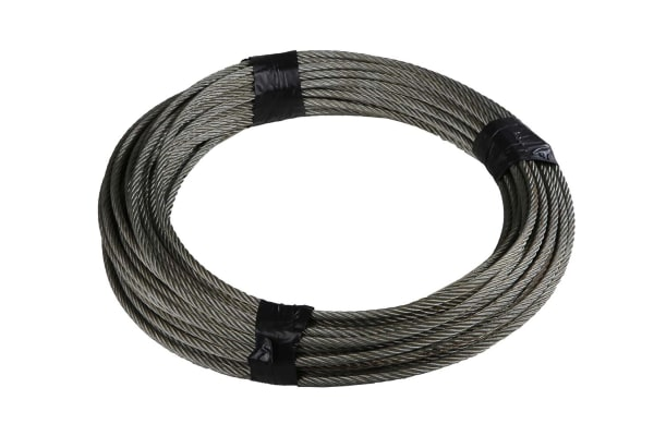 Product image for GALVANISED WIRE ROPE,10MM DIA X 50M L