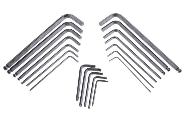 Product image for 19pcs combi Torx(R) & hex ball key set