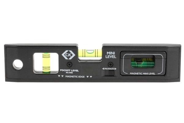 Product image for BLACK PLASTIC 3 VIAL POCKET SPRIT LEVEL