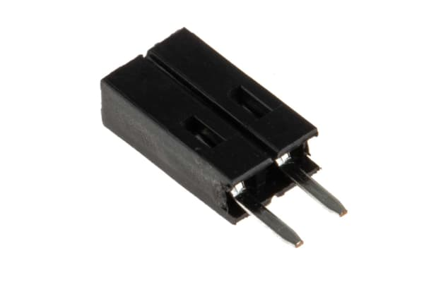 Product image for 2 way 1 row top entry socket,0.1in pitch