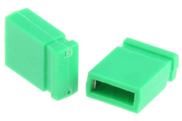 Product image for Green 2 way closed shorting link,2.54mm