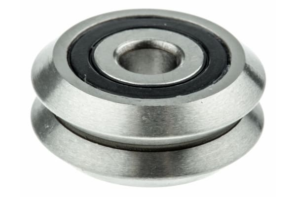 Product image for SAE 52100 STEEL V GUIDE WHEEL,19.55MM
