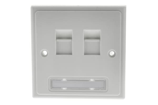 Product image for 2xRJ45 unshielded individual faceplate