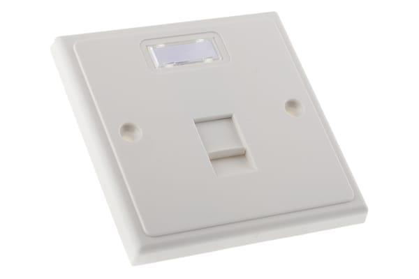 Product image for 1 PBX master telephone socket faceplate
