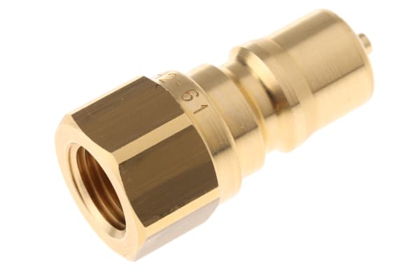 Product image for 1/4in BSPP quick action brass nipple