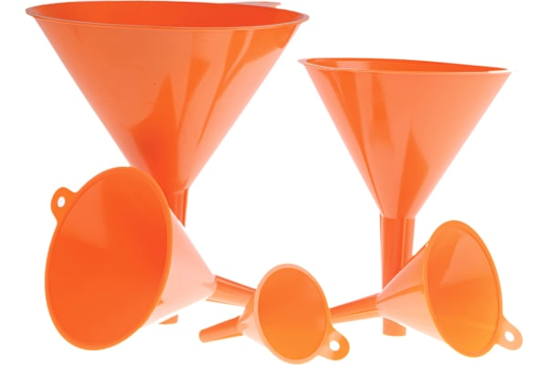 Product image for 5 polypropylene funnel set with handle