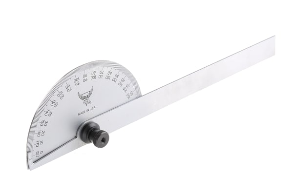 Product image for PEC-round head end protractor,0-180deg
