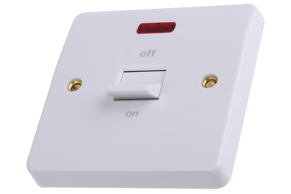 Product image for 32A CONTROL SWITCH NEON WHITE LOGIC PLUS