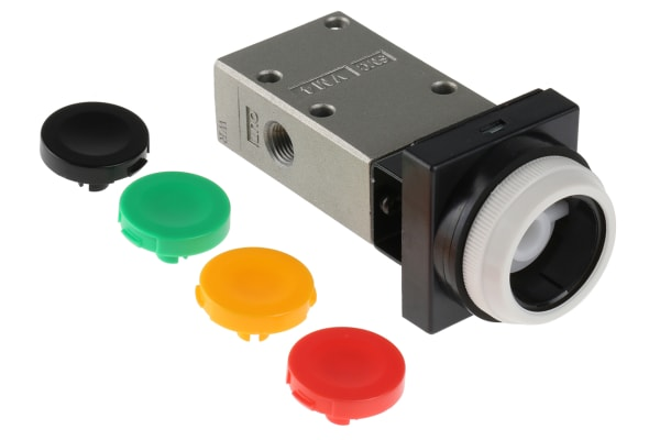 Product image for 1/8IN 3/2 FLUSH BUTTON VALVE, NO/NC