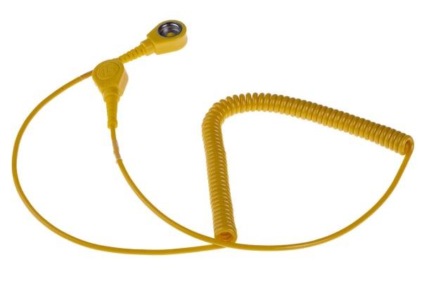 Product image for 10mm stud-stud cord,1.8m L 1meg coil