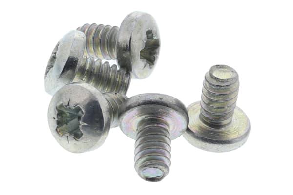 Product image for Steel cross pan head screw,4-40x3/16in