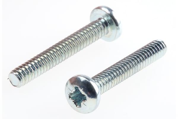 Product image for Steel cross pan head screw,4-40x3/4in