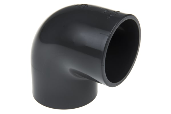 Product image for GEORGE FISCHER 90DEG PVC-U ELBOW,50MM