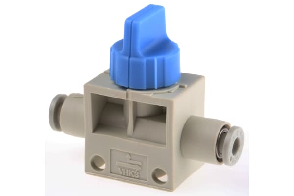 Product image for 4mm 3/2 finger valve w/blue knob