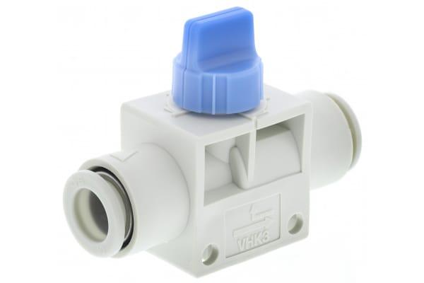 Product image for 10mm 3/2 finger valve w/blue knob