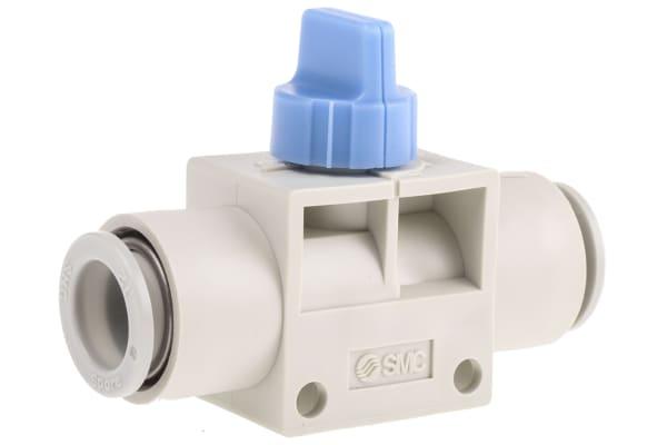 Product image for 12mm 3/2 finger valve w/blue knob