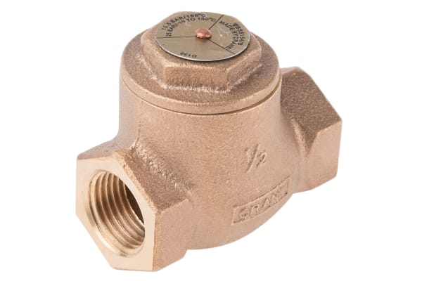 Product image for Bronze swing check valve,1/2in BSPT