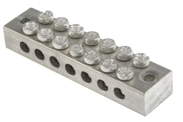 Product image for 7 way double screw earth terminal block
