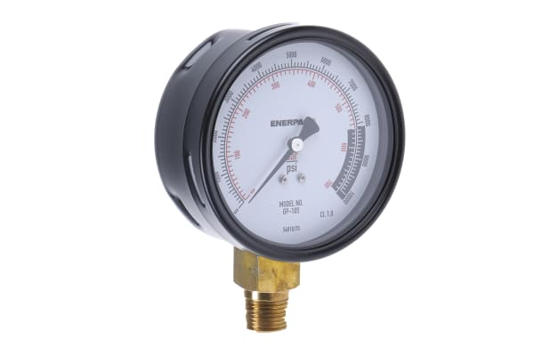 Product image for Enerpac GP10S Analogue Positive Pressure Gauge Hydraulic 700bar, Connection Size G 1/2