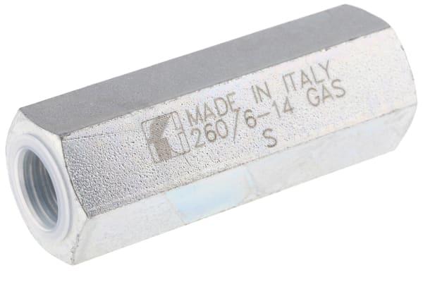 Product image for G1/4 BSP steel non-return valve