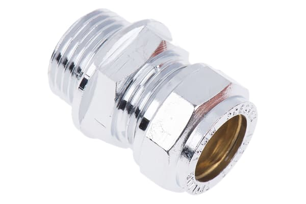 Product image for Straight coupling,15mm compx1/2in BSPP M