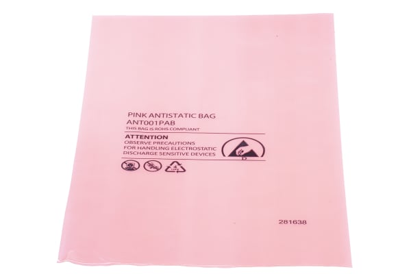 Product image for Antistatic pink bag,205x255mm