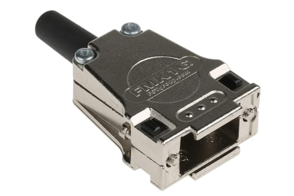 Product image for FCT FMK Die Cast Zinc D-sub Connector Backshell, 9 Way, Strain Relief