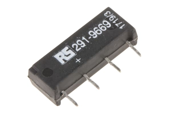 Product image for SPNO Reed Relay, 1 A, 5V dc