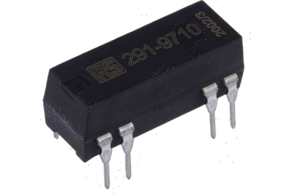 Product image for SPNO reed relay,1A 5Vdc coil