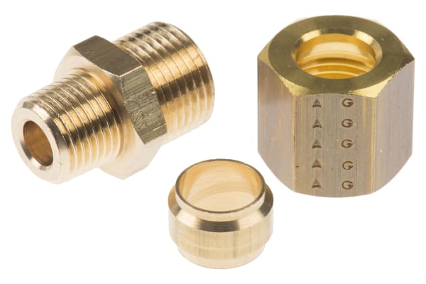 Product image for MALE STUD COUPLING,1/8IN BSPT MX8MM COMP
