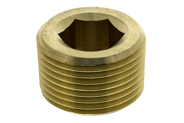 Product image for Legris Brass 3/4 in BSPT Male Straight Plug Threaded Fitting