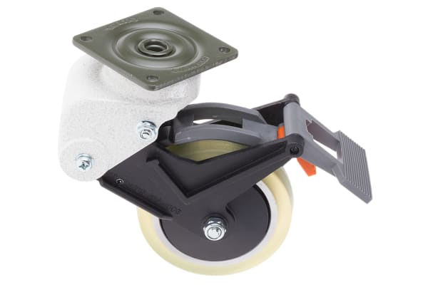 Product image for Shock absorbing SW castor w/TP&BR,100mm