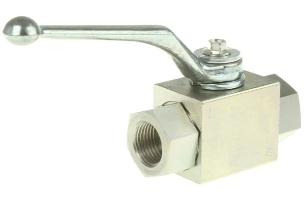 Product image for 1/2in BSPP two way steel ball valve
