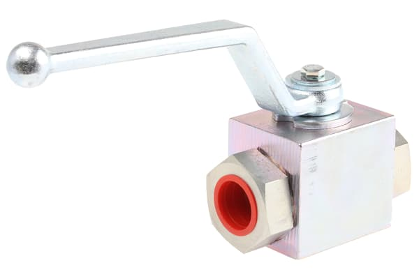 Product image for 3/4in BSPP two way steel ball valve